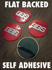 BBS Style Red / Silver 70mm Sticker Badges Caps Emblems Lenso Dare Calibre
