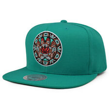 Vancouver Grizzlies Vintage SOLID 2 Teal Snapback Mitchell & Ness NBA Hat