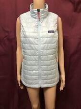 PATAGONIA VEST WOMENS ~ SIZE LARGE ~ GREAT COND QUILTED SQUARES DESIGN ZIPPERED