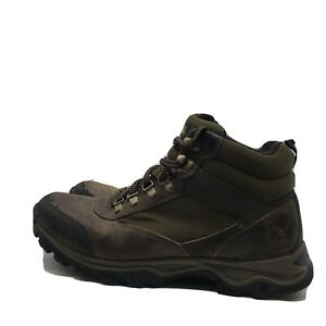 Timberland Men's Keele Ridge Mid Hiking Boots A15LO Brown/Green Size 10.5