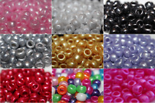 Pearl Pony Beads 9x6mm Barrel Shaped Ideal For Dummy Clips - Choose Your Colour