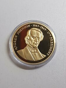 US President A. Johnson Excellent Condition Coin Medal United States