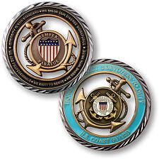 U.S. Coast Guard / Core Values - USCG Brass Challenge Coin