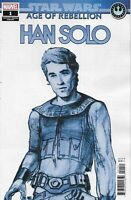 Star Wars Comic 1 Age Of Rebellion Han Solo Concept Design B Variant 2019 Marvel
