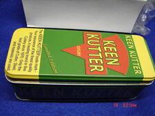 "3 - KEEN KUTTER TIN Knife Containers 5"" long x 2"" wide x 1 7/8 ""deep"