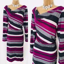 •Gina Bacconi Jumper Dress SIZE 12 Stripe Party   Occasion Winter Evening B53,.
