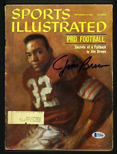 Jim Brown Autographed Signed Sports Illustrated Magazine Browns Beckett S76456