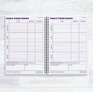 A5 CALORIE COUNTING 84 DAILY FOOD DIARIES IN A BOOK - 12 WEEK CALORIE COUNT BOOK