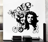 Wall Decal Sexy Girl Flower Teen Pop Art Cool Decor For Living Room (z2629)