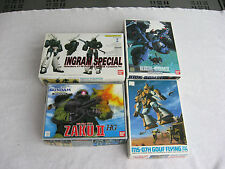 4 Ban Dai Zaku Models-MS-06J~MS-07H~MS-009RII~AV-98~Instructions In Japanese