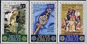 St Kitts - Sc 332 - 34 (Sg 367 - 69) - Silver Jubilee VF MNH