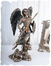 FIGURE DE L'ANGE ARCHANGES RAPHAEL AVEC PLAQUE & LANCE STYLE ANTIQUE