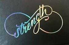Infinity Strength Rainbow Holographic Car Decal Sticker Window Laptop 08-58