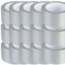 SILVER Duck Duct Gaffa Gaffer Waterproof Cloth Tape 48mm x 50m FOR WOOD METAL