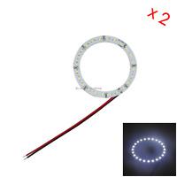 10x White Rv Angel Eye Halo Rings Lamp Tail Light 80MM 24 2835 LED Z5173