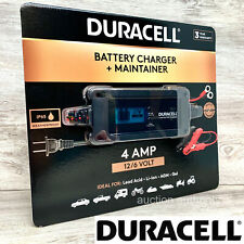 Duracell Battery Auto Car Charger Maintainer 4 Amp 12/6 VOLT IP65 Weatherproof