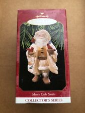 Collectible 1997 Hallmark Merry Olde Santa #8 With Cardinals Christmas Ornament