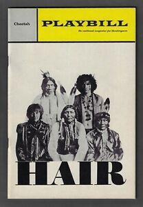 """Jill O'Hara """"HAIR"""" Galt MacDermot / Cheetah Theatre 1967 Off-Broadway Playbill"""