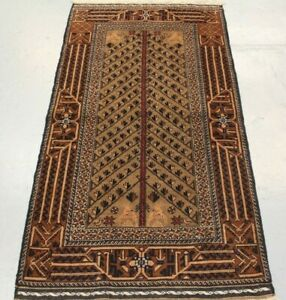 Handmade Oriental Parsian Beluch Wool Rug 163cm x 86cm