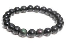 Bracelet obsidienne oeil céleste (boules 10mm)