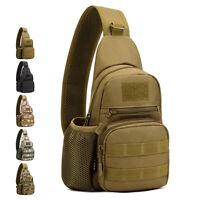 Tactical Molle Military Men Sling Chest Bag Assault Backpack Shoulder Rucksack