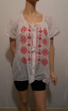 Cotton Peasant Regular Size Tops for Women