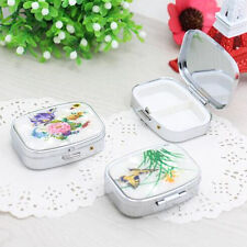 Top Women Jewelry Case Metal Fancy Folding Drug Pill Box Storage Container*