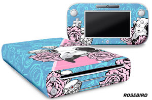 Skin Decal Wrap for Nintendo Wii U Gaming Console & Controller Sticker ROSEBIRD