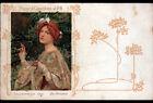 PAPIER CIGARETTE JOB / CALENDRIER 1901 illustré Fleurs par MAXENCE avant 1904