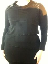 Plus Size Women Tunic/Turtleneck By Jean Marc Philippe Size 24 Black