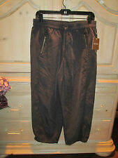 ELLEN TRACY RAINFOREST COLL BITTERSWEET BROWN ANKLE CROP PANTS WOMENS S NWT