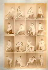 C04 Calavas photo étude pour peintre vintage albumen print albuminé nus femme