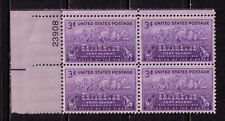 US USA Sc# 970  MNH FVF PLATE # BLOCK Fort Kearny Oxen Covered Wagon Pioneer