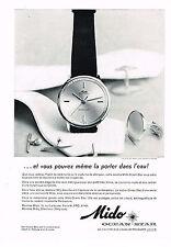 PUBLICITE ADVERTISING 054  1960  MIDO  montre OCEAN STAR