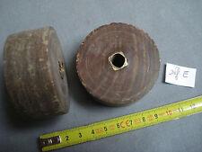 roulette ancienne en bois  de 61 mm de diamètre (réf E )