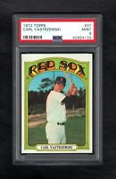 1972 TOPPS #37 CARL YAZTRZEMSKI HOF RED SOX PSA 9 MINT CENTERED! (SALE)