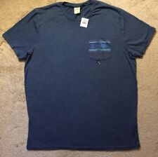 NWT Hollister Men's Shirt HCO Short Sleeve T-Shirt SZ XL Extra Large Blue New!