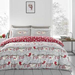Christmas Duvet Cover Merry Slothmas Reversible Bedding Set Single & Double