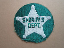 Sheriff's Dept Woven Cloth Patch Badge (L1K)