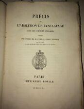 ESCLAVAGE. ABOLITION DANS LES COLONIES ANGLAISES. 1840