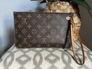 Authentic Louis Vuitton Monogram Neverfull MM PM Pochette