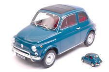 Fiat 500 l 1968 blue 1:18 auto stradali scala norev