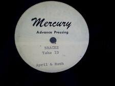 APRIL & RUTH MERCURY ADVANCE TEST PRESSING Braces take 1D,multiple machine mix