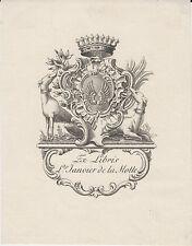 EX-LIBRIS Louis JANVIER de la MOTTE (1849-1894) député MAINE-ET-LOIRE JUVARDEIL