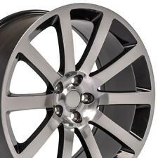 20 In Black Machined Rims Set 4 Fit 300 Charger Challenger Se Sxt Rt Wheel