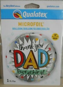"""Thank You Dad for everything Helium Balloon 18"""" Large choice available"""