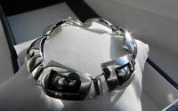 C👀L💖 UNUSUAL💖 PRISTINE💖 21g sterling silver 925 fully hallmarked bracelet