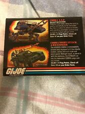 Sgt Slaughter Gi Joe Mail Away Offer Order Form 1986 Hasbro Used with Writing