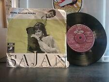 "SAJAN Laxmikant Pyarelal Bollywood Hindi Film Angel TAE 1545 7"" 45rpm 1969 VG/VG"