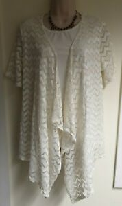 Ladies Anne Smith Cream insert Lacey Top Size 16.